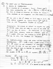 Phys 310 First Law of Thermodynamics Notes