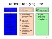 Methods of Buying Time