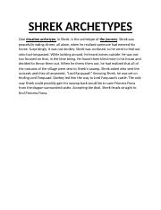 SHREK ARCHETYPES 2