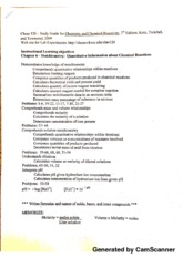 chem120 Study Guide for chemistry and chemistry reactivity
