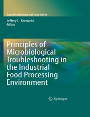 Principles of Microbiological Troubleshooting in the Industrial Food Processing Environment (2010).p
