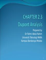Chapter 2.3 Dupont analysis.ppt