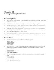 ch-012-Leverage and Capital Structure