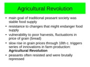 Chapter 15-The Agricultural Revolution