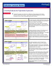 An Introduction to Trigonometric Substitution