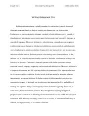 AB PSYCH 350 Writing Assignment Five