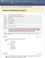 Review Test Submission: Quiz #3 – AS.410.604.85.SP17 ...