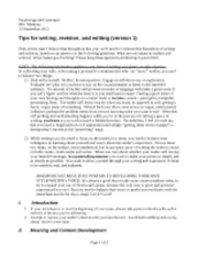 General Tips for Writing and Revision September 2012-seniors