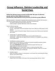 Notes - Lecture 8 - Group Influence.docx