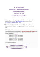 Tutorial Registration Guidelines