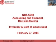 c10- Inventory & Cost of Goods Sold