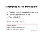 05-Kinematics in Two Dimensions