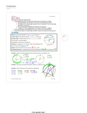 Circle geometry booklet key
