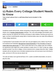 13 Rules Every College Student Needs to Know _ Psychology Today