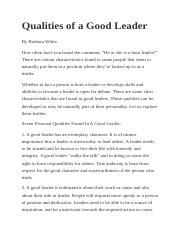 Qualities of a Good Leader.docx