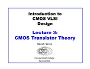 LECTURE 3 CMOS TRANSISTOR THEORY