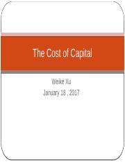 Ch12 The Cost of Capital (1)