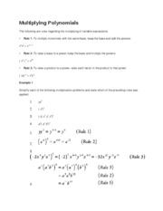 Multiplying Polynomial1