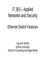 IT 263 - Week Two - Switches.ppt