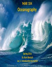Lec 1 incomplete - Intro to Course & Oceanography