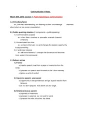 Communication 105 Notes