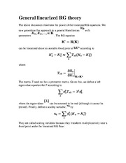 BUSSTAT 207 General linearized RG theory