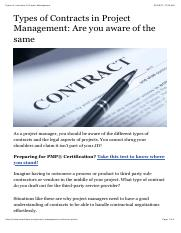 Types of contracts in Project Management.pdf