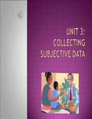Unit 3 Collecting Subjective Data.ppt