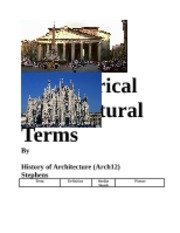 50 Historical Architectural Terms