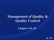 Ch 9 &10 Quality Management