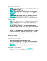 Keys to Study of Chemistry, Ch. 1