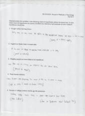Research Methods Operationalizing worksheet
