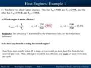 Heat Engines Examples