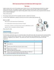 FVS AED Assignment Checklist.pdf
