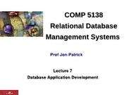 Lecture7_DBApplicationDevelopment