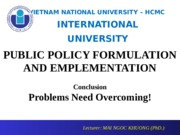 Conclusion Session - Problems Need Overcoming