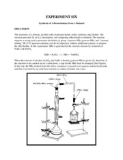 Expt 06 - Synthesis of Bromobutane from Butanol