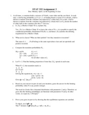 STAT 333 Assignment 3 solutions