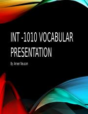 Int -1010 Vocabular Presentation.pptx