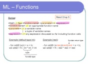 09. ML - Functions