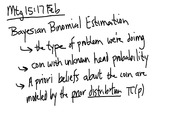 Lecture 15 on Bayesian Binomial Estimation
