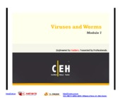 CEHv7 Module 07 Viruses and Worms