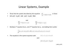 ODE sytem example linearity.pdf