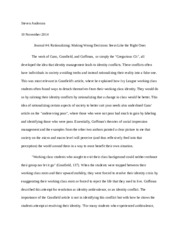 Specific Sociology Essay Topic?