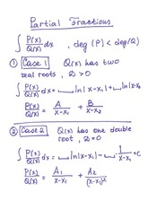 Math 136.271 Partial Fraction Notes