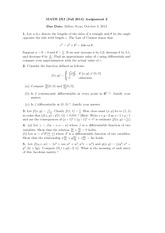 Assignment #2: Differentiability