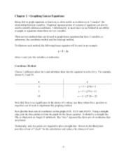 Chapter 2 - graphing linear equations