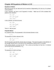 08 Chapter 4B Equations of Motion in 2-D