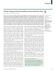 Climate change and human health- present and future risks