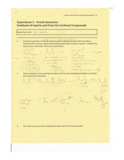 Synthesis of Aspirin and Tests for Carbonyl Compounds Lab